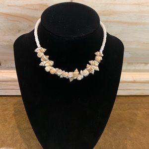Jewelry - Handmade Stretchable Shell and Pearl Choker
